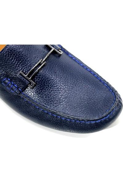 Re Beta Shoes Deri Erkek Ayakkabı Lacivert