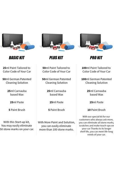 Color N Drive Mercedes İçin Rötüş Boyası 583 / 3583 - Velvet Red Taş İzi ve Çizik Giderici Set - Basic