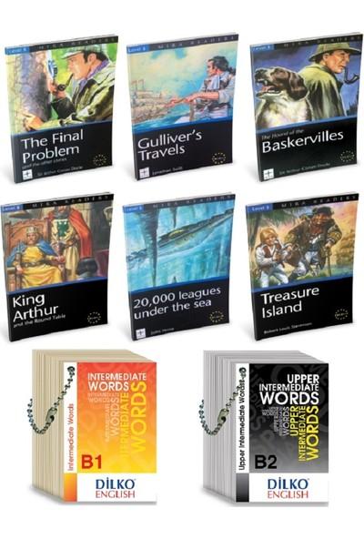 Mira Books Level 3 İngilizce Hikaye Seti (6 Kitap) B1-B1+ - Kelime Kartları B1-B2