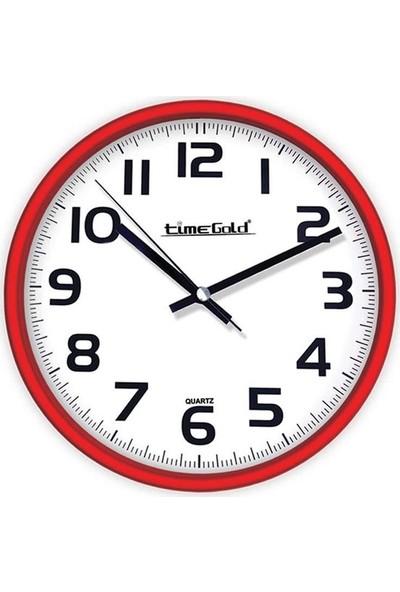 Time Gold Dune Ofis ve Ev Klasik Kırmızı Duvar Saati 28 cm
