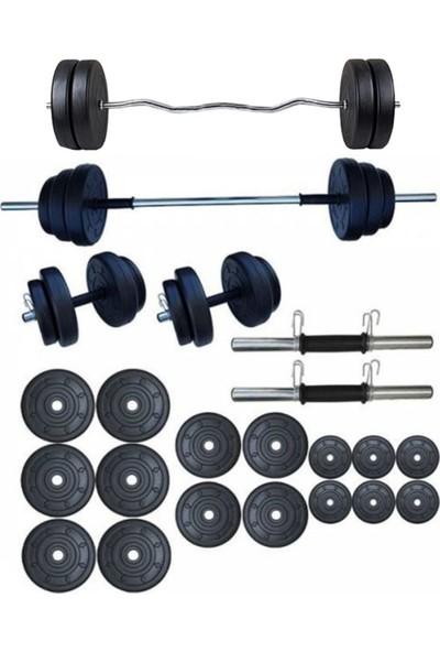 Smyrna 85 kg Halter - Ağırlık ve Dambıl Seti + Z Bar