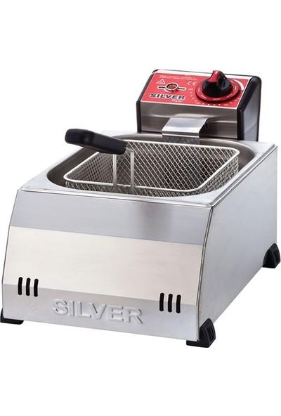 Silver 5L Elektrikli Tekli Fritöz
