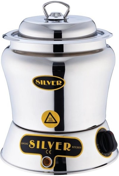 Silver Dondurma Çikolata Sosluğu 2,5 Lt Paslanmaz Inox