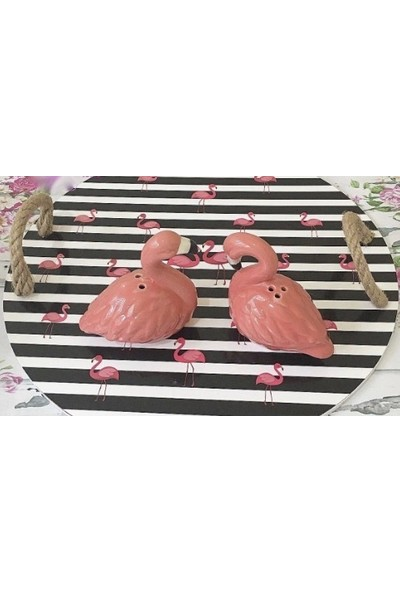 Acar Flamingo Seramik Tuzluk&biberlik Seti/süs Eşyası