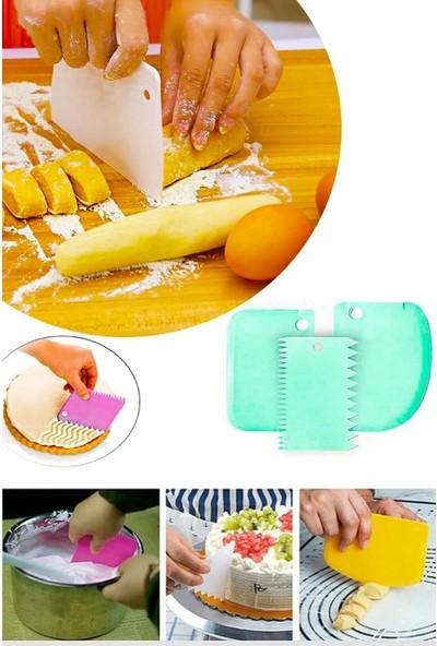 Evimsan Hamur Şekillendirici Kesici Kazıyıcı Pasta Kek Dekorasyon Seti