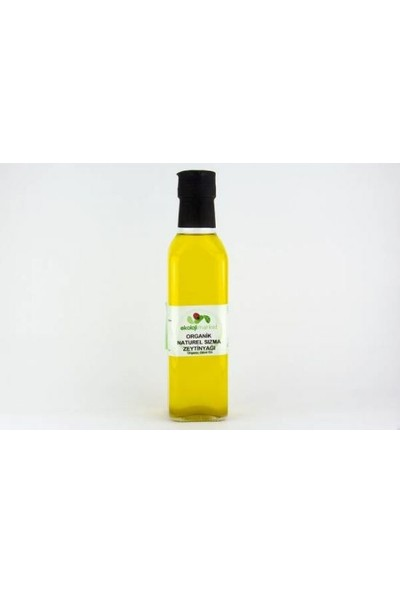Ekoloji Market Organik Soğuk Sıkım Zeytinyağı (Cam Şise) 250 ml