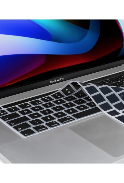Kızılkaya Apple Macbook Pro 13 Inç 2020 A2338 M1 Işlemcili Türkçe Q Silikon Klavye Koruyucu Siyah