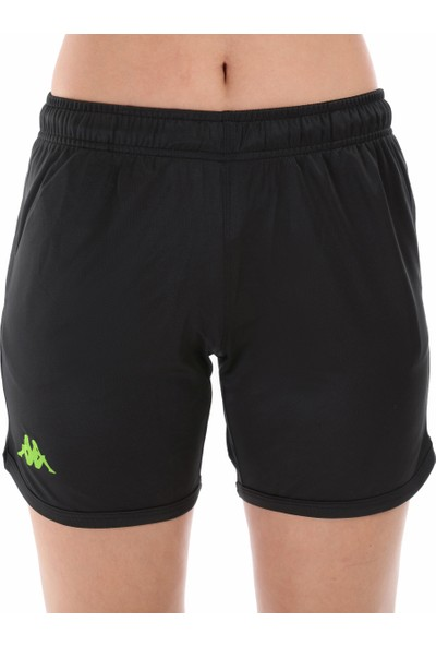Kappa Kadın Koşu Şortu Barıc Siyah/yeşil