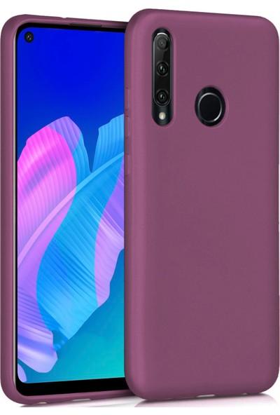 Huawei P40 Lite E Kılıf Ultra Ince Renkli Silikon Kapak Mürdüm