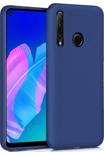 Huawei P40 Lite E Kılıf Ultra Ince Renkli Silikon Kapak Lacivert