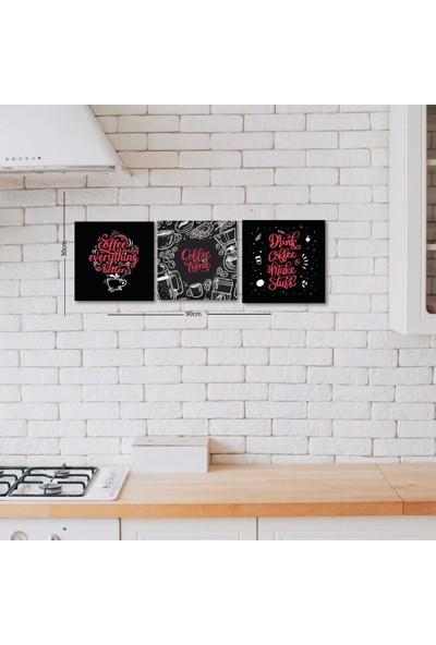 Meşgalem Ahşap Dekoratif Yazılı Drink Coffee Mutfak Süsü