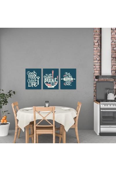 Meşgalem Mutfak Yazısı Good Food Good Life Ahşap Dekoratif Duvar Süsü