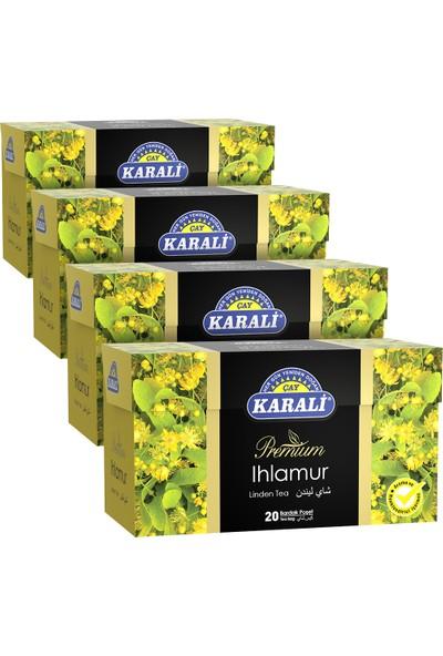 Karali Premium Bardak Poşet Ihlamur Çayı 20'li x 4'lü