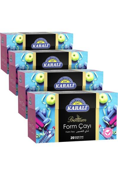 Karali Premium Bardak Poşet Form Çayı 20'li x 4'lü
