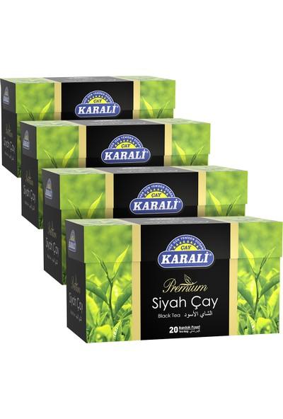Karali Premium Bardak Poşet Siyah Çay 20'li x 4'lü