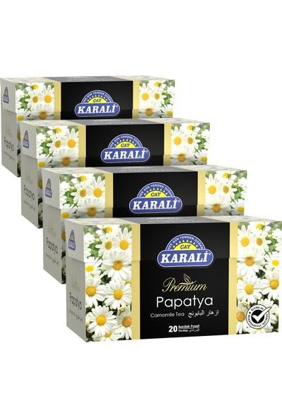Karali Premium Bardak Poşet Papatya Çayı 20'li x 4'lü