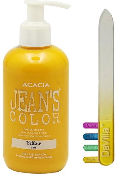 Acacia Jean's Color Sarı Saç Boyası 250 ml + Davilla Cam Törpü