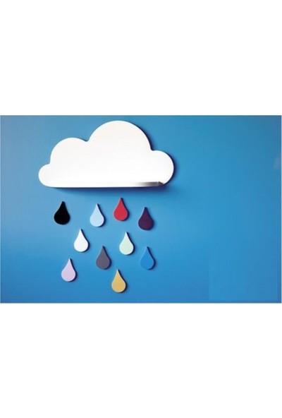 Bebenis Renkli Damlalı Bulut Raf