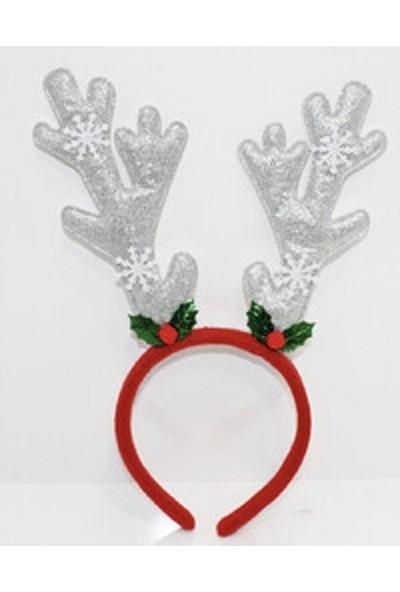 Cakes Party Yılbaşı Noel Geyik Temalı Taç Gümüş Simli