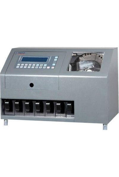 Ribao CS-610S + Pro 6+1 Gözlü Profesyonel Madeni Para Sayma Makinesi Sahte Kontrollü