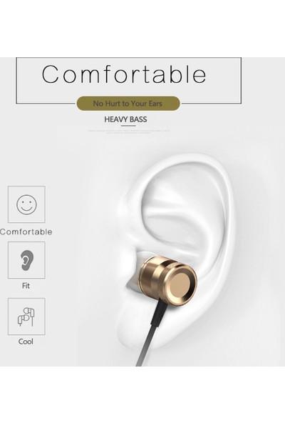 Auvc USB Tip-C Kulak Kablolu Metal Kulaklık Usb-C (Yurt Dışından)