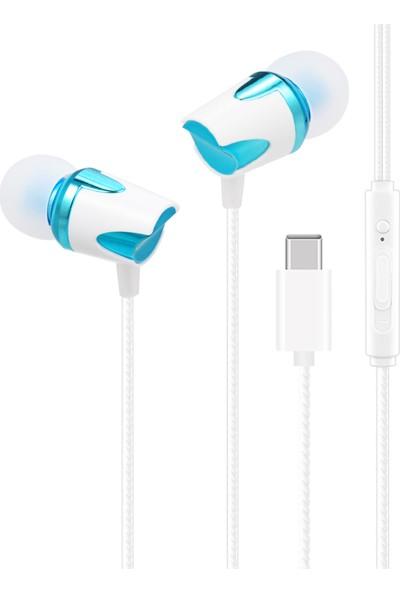 Auvc USB Tip-C Kablolu Kulaklık Taşınabilir Kulak İçi Kulaklık (Yurt Dışından)