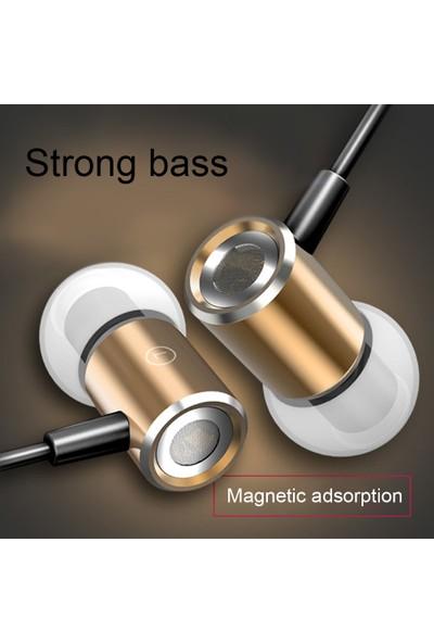 Auvc 3.5mm Kablolu Kulaklık Manyetik Emme (Yurt Dışından)