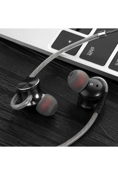 Fonge W3 3.5mm Kablolu Kulak İçi Kulaklık Metal Manyetik (Yurt Dışından)