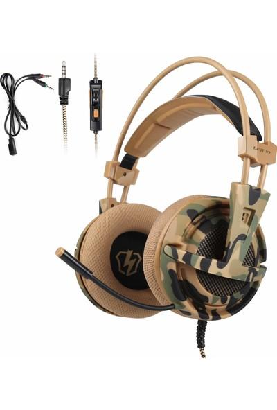 Letton L1 3.5mm Gaming Headset Stereo Pc Dizüstü Akıllı Kulaklık (Yurt Dışından)