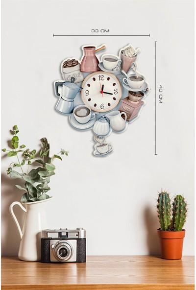 Sokaktaki Hediyem Kahve Deryası Sallanır Sarkaçlı Mutfak Duvar Saati