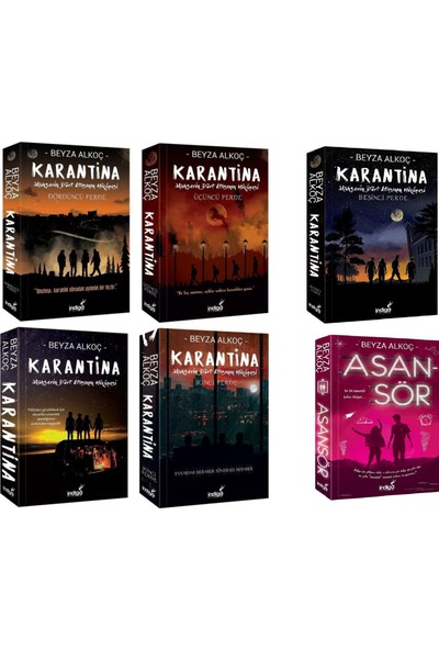 Karantina Serisi 5 Kitap ve Asansör 6 Kitap Takım - Beyza Alkoç