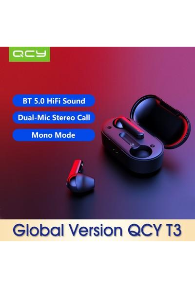 Qcy Küresel Sürüm T3 Bt Kablosuz Tws Kulakiçi Kulaklık (Yurt Dışından)