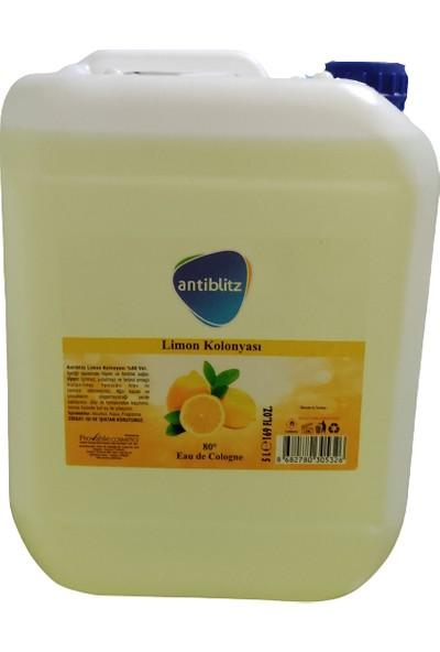 Antiblitz Limon Kolonyası 80 Derece 5 lt