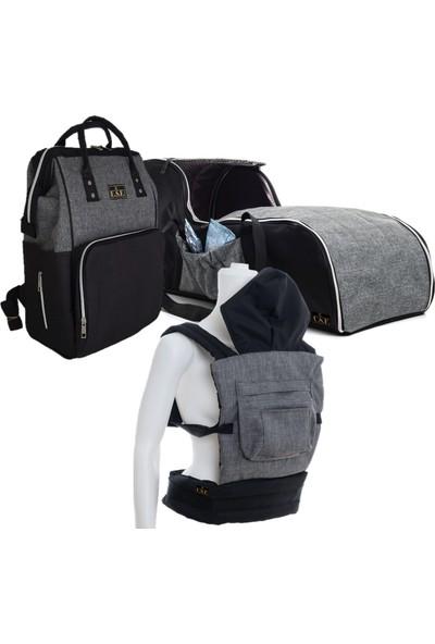U.S.F Portbebe Ana Kucağı + Bebek Taşıma Kanguru + Bebek Bakım Çantası 3 Lü Set