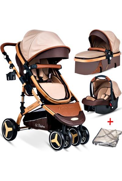 Baby Home BH-945 Paris Amortisörlü Travel Sistem Bebek Arabası