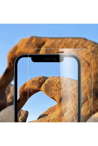 Teleplus iPhone 12 Pro Max Toz Önleyicili Filtreli Ekran Koruyucu Şeffaf + Kamera Koruyucu