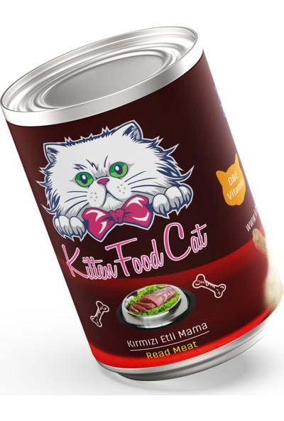 Kıtten Food Cat Yavru Kırmızı Etli 415GRAM