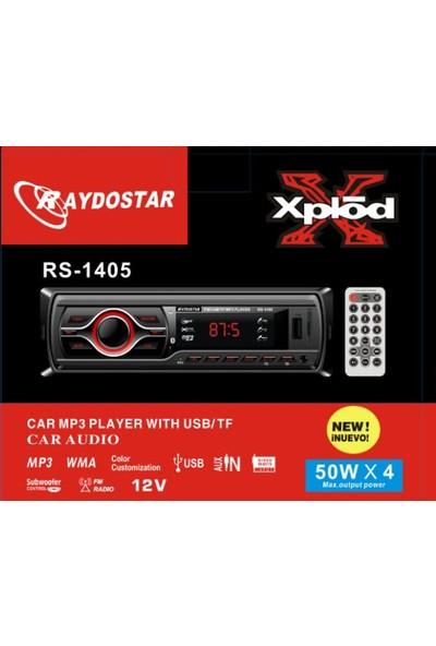 Raydostar RS-1405 Bluetoothlu 4*50 Ses Çıkışlı Oto Teyp