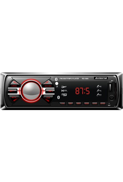 Raydostar RS-1404 Bluetoothlu 4*50 Ses Çıkışlı Oto Teyp