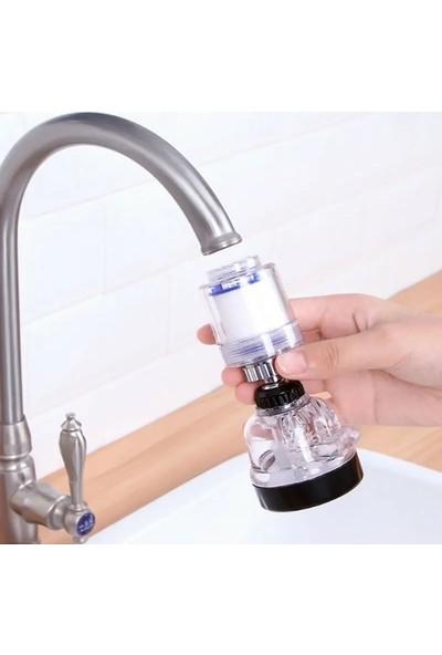 Go İthalat Filtreli Su Tasarruflu 3 Fonksiyonlu Oynar Musluk Başlığı - Şeffaf