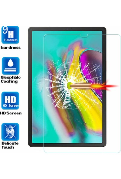 Redpoloshop Samsung Galaxy Tab S6 Lite 10,5 P610 P615 Temperli Ekran Koruyucu
