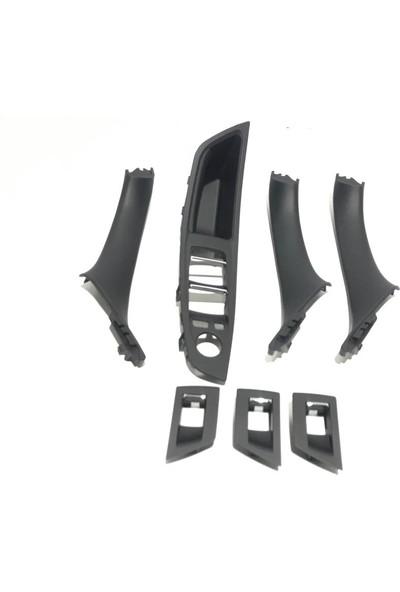 Bmw F10 5 Serisi Siyah Iç Kapı Kolu Tutamağı Set 7 Parça