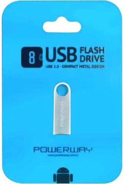 Powerway Powerway8 GB Metal USB Flash Bellek
