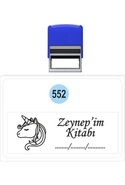 Baskı Life Unicorn Kaşe Kitap Mührü Kitap Damgası Kişiye Özel Kaşe 552