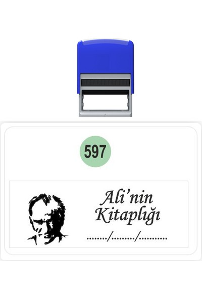 Baskı Life Atatürk Kaşe Kitap Mührü Kitap Damgası Kişiye Özel Kaşe 597