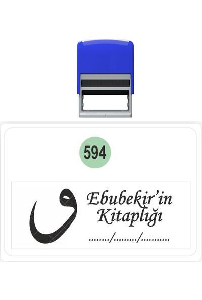 Baskı Life Vav Kaşe Kitap Mührü Kitap Damgası Kişiye Özel Kaşe 594