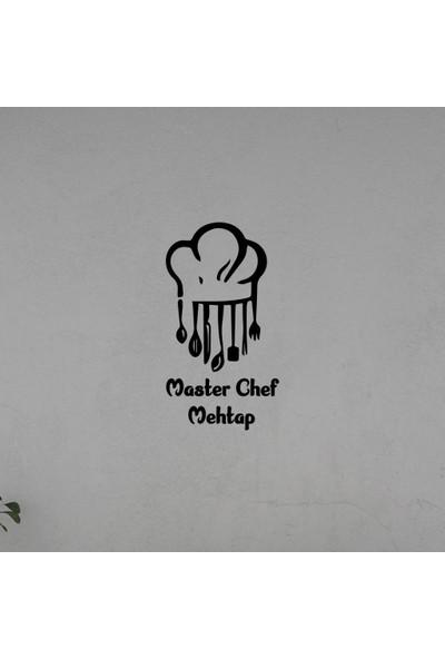 Meşgalem Mutfak Yazısı Master Chef Ahşap Dekoratif Duvar Süsü