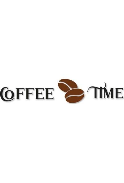 Meşgalem Ahşap Dekoratif Yazılı Insert Coffee Time Mutfak Tablo Süsü
