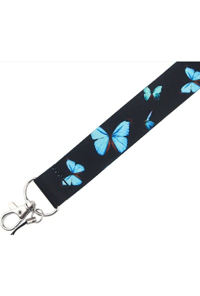 Kürkcü Kelebek Desen Yaka Kart Askısı