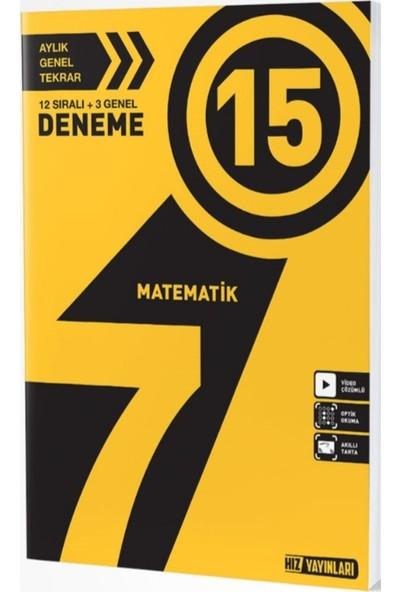 Hız Yayınları 7. Sınıf Matematik 15'li Deneme
